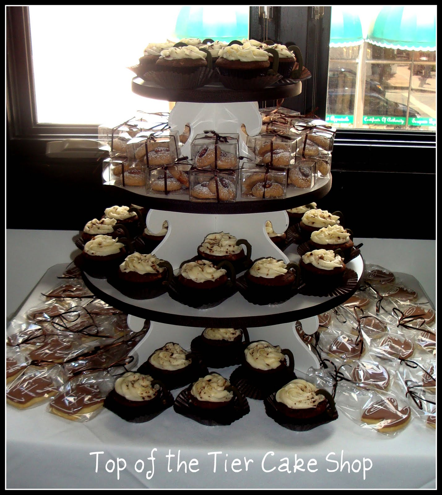 top of the tier cake shop coffee theme bridal shower. Black Bedroom Furniture Sets. Home Design Ideas