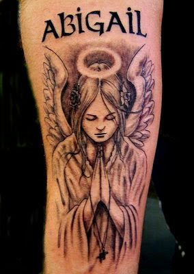 pictures of angel tattoos