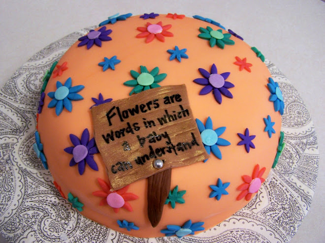 Flower Power Baby Shower Cake