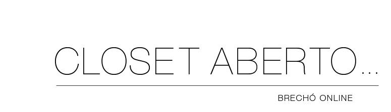 Closet Aberto... Brechó Online