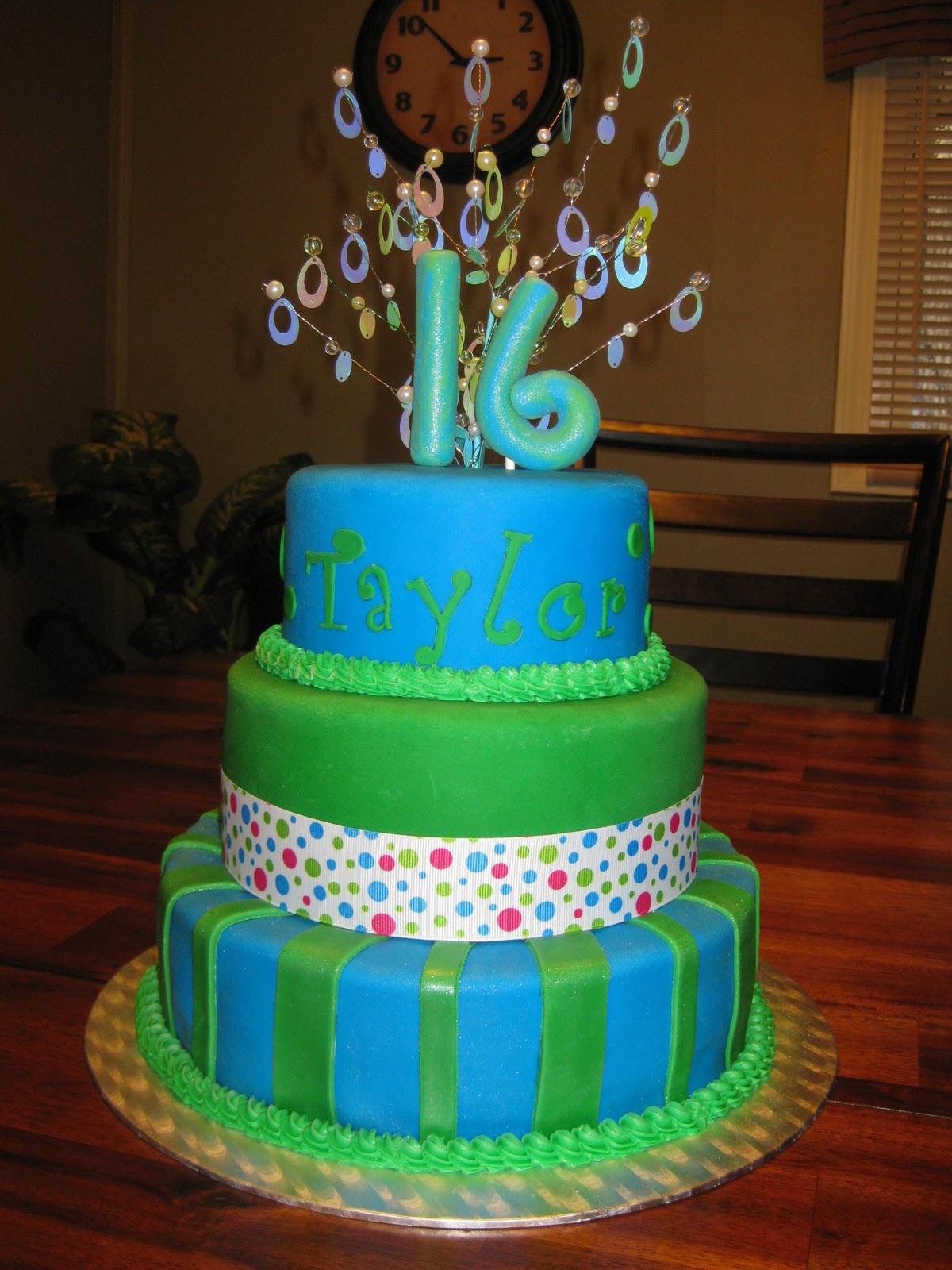 Birthday Cake Ideas With Sweets : Ashlynn Leigh Cakes: Sweet 16 Birthday Cake