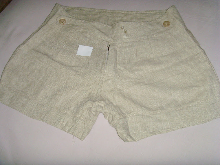 Shorts Areia de Linho tam $0.
