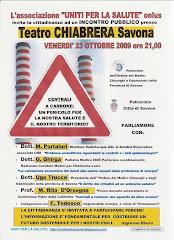 """INCONTRO PUBBLICO al """"TEATRO CHIABRERA """"di SAVONA"""