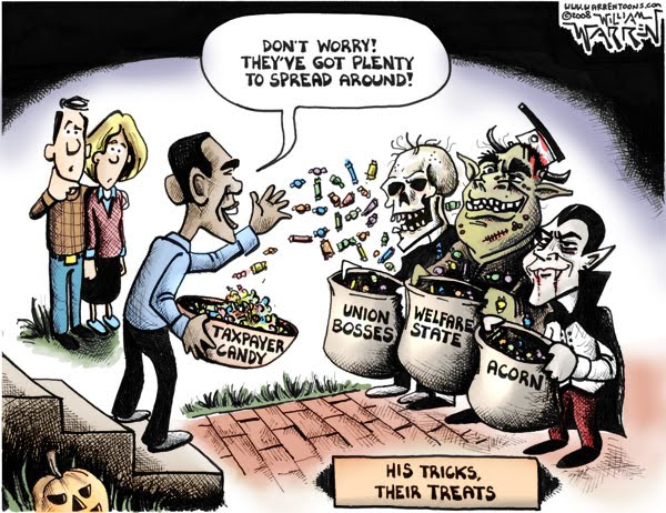 spread the wealth obama cartoons