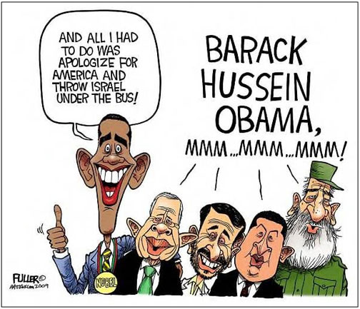cartoons of obama  from israel