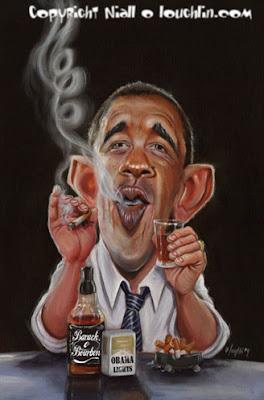 obama drinking and smoking