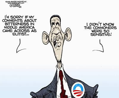 OBAMA CARTOONS : Conservative Political Humor: Liberal Elitist