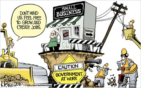 unhappy destroying family businesses obama regime destroy family farms obama small business cartoon