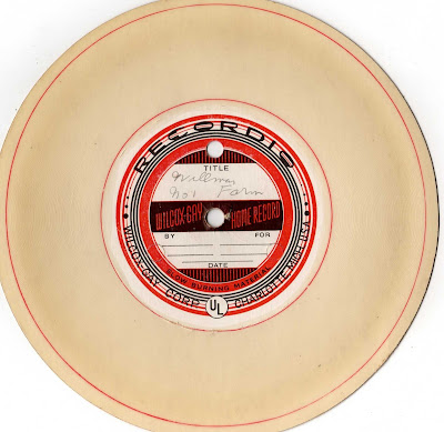 This is a Wilcox-Gay Transcription disc. It spins at 78 rpm and tracks ...