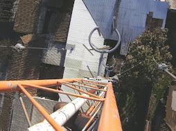 Sistema Radiante,ubicado en un mastil de 36 mts.