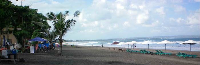 Seminyak beach atmosphere part in the morning