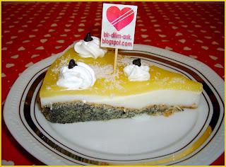 Portakal Pelteli Labneli Haşhaşlı  yaş pasta