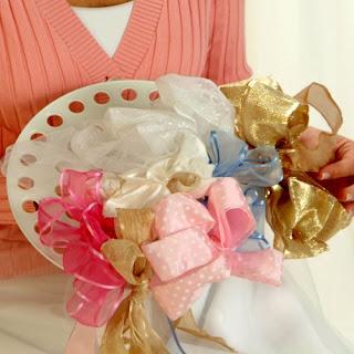 bridal showers ribbon bouquets