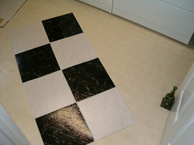 Black And White L Stick Tiles