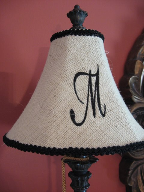 So, Now The Monogram Lampshades For My Diningroom Are A Reality. All It  Took Was About A Yard Of Burlap From Hobby Lobby. I Originally Had Planned  To Get ...