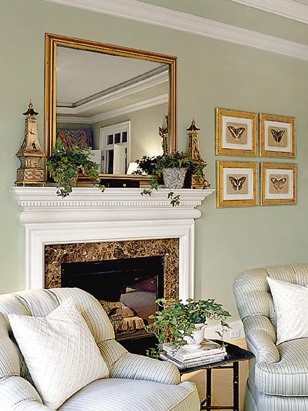 decorating a mantel southern hospitality. Black Bedroom Furniture Sets. Home Design Ideas