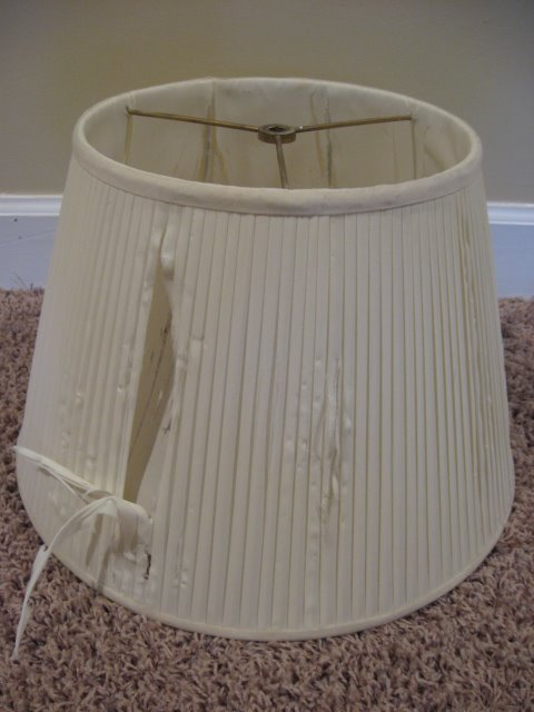 Covering a lampshade southern hospitality for Redoing lamp shades