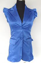 A 1093 - Button top, (blue), free size (can fit size S,M)