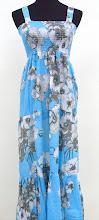A 1123, Long maxi dress (blue)