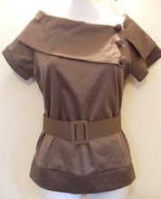 A 1133 - Brown top w/belt, size S available