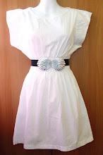 A 1180 - White top w/belt, fits size S,M