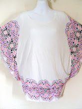 A 1169 - Butterfly top (available in purple colour too), fits size S,M,L