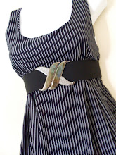 A 1189 - Stripe dress w/belt