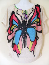 A 1193 - Butterfly top, free size