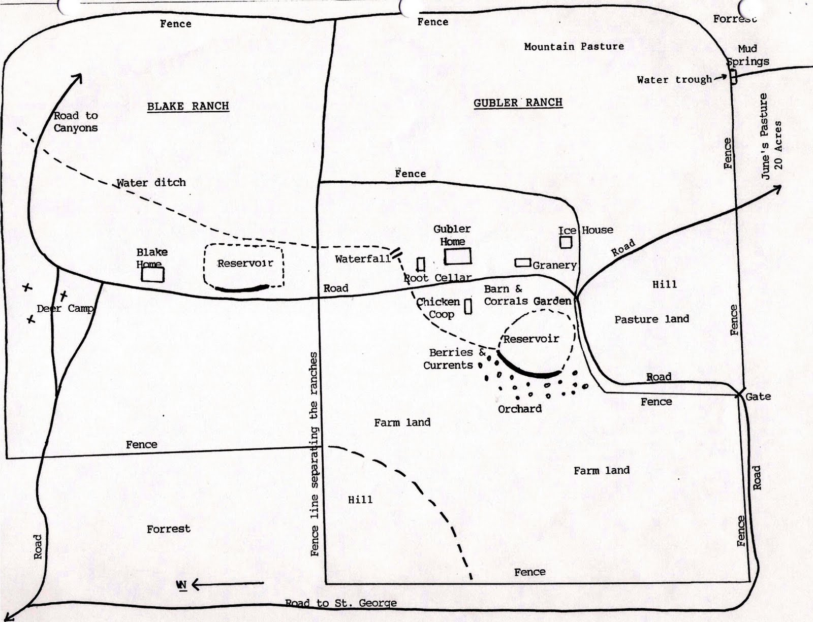 Hunt for gublers pine valley utah ranch layout for Ranch layout