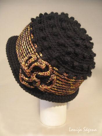 tamborēta cepure retro stils pumpu podiņš lofonsa closhe