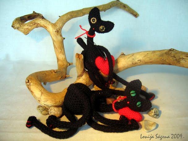 tamborēts kaķis, melns garkakla kaķis,sliņķis,lofonsa