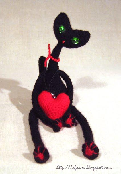 tamborēts melns kaķis, lofonsa