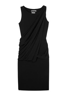 osman yousefzada draped black dress