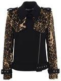 jean charle de castelbajac leopard head biker jacket