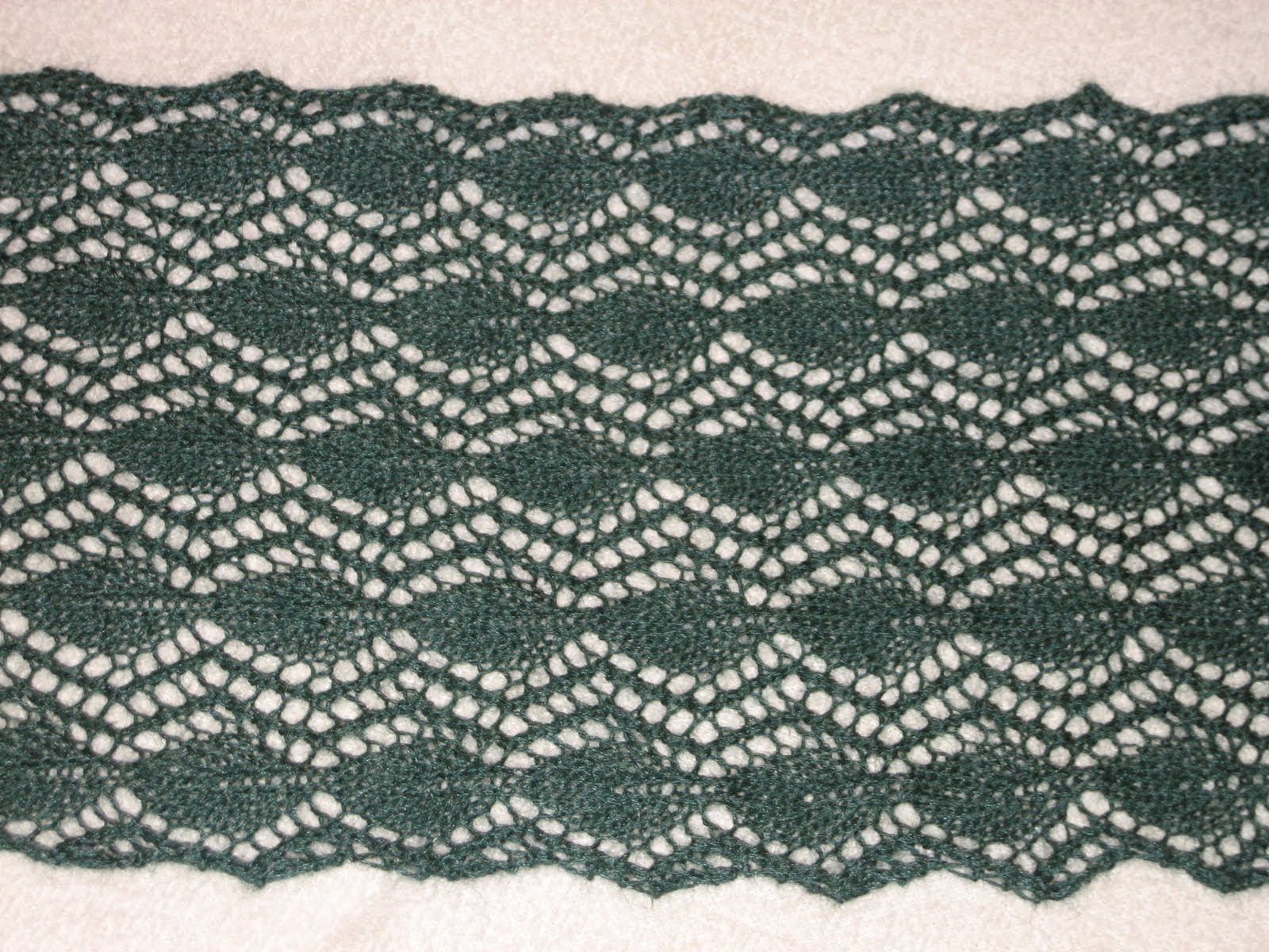 Diana natters on... about machine knitting: Enchanted Forest Lace Scarf