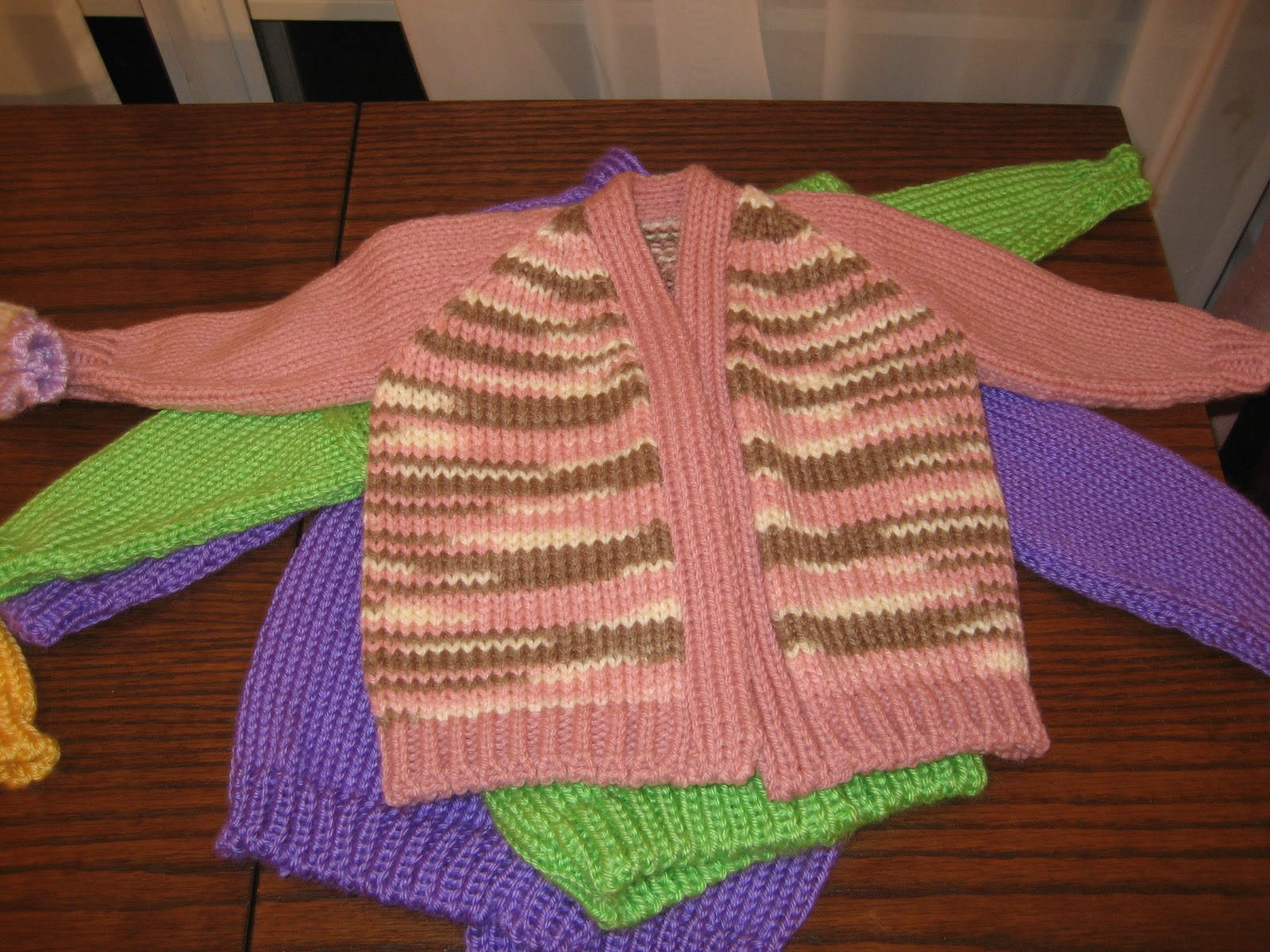 Diana natters on... about machine knitting: Baby Sweater Samples for ...