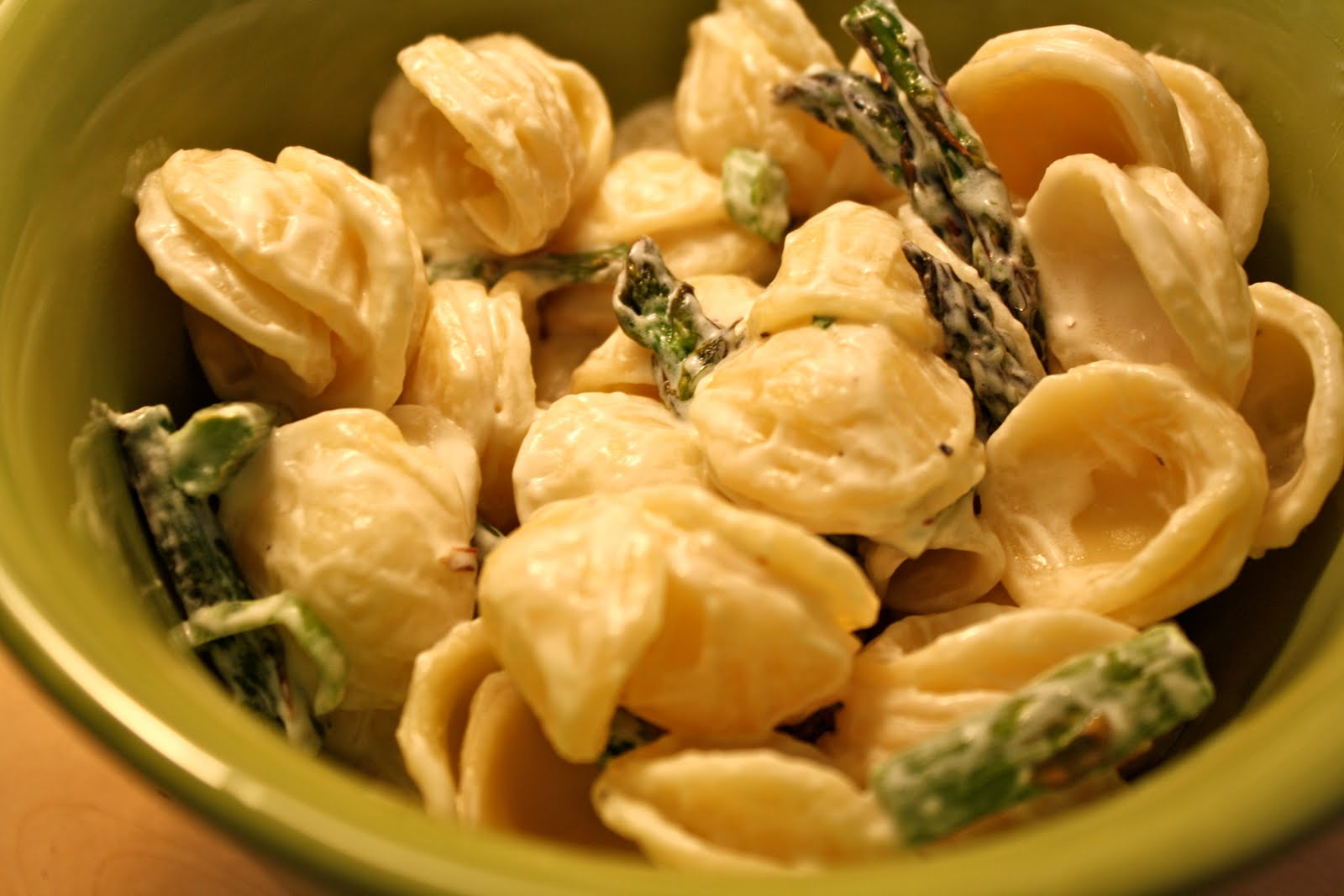What's For Dinner?: Pasta with Goat Cheese and Roasted Asparagus