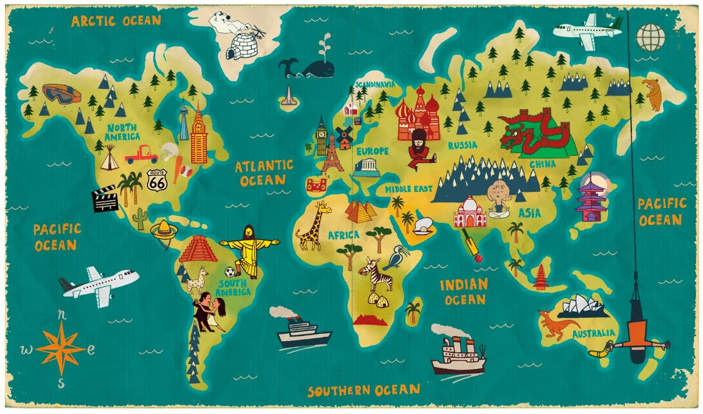 amara blogs }: Simple World Map