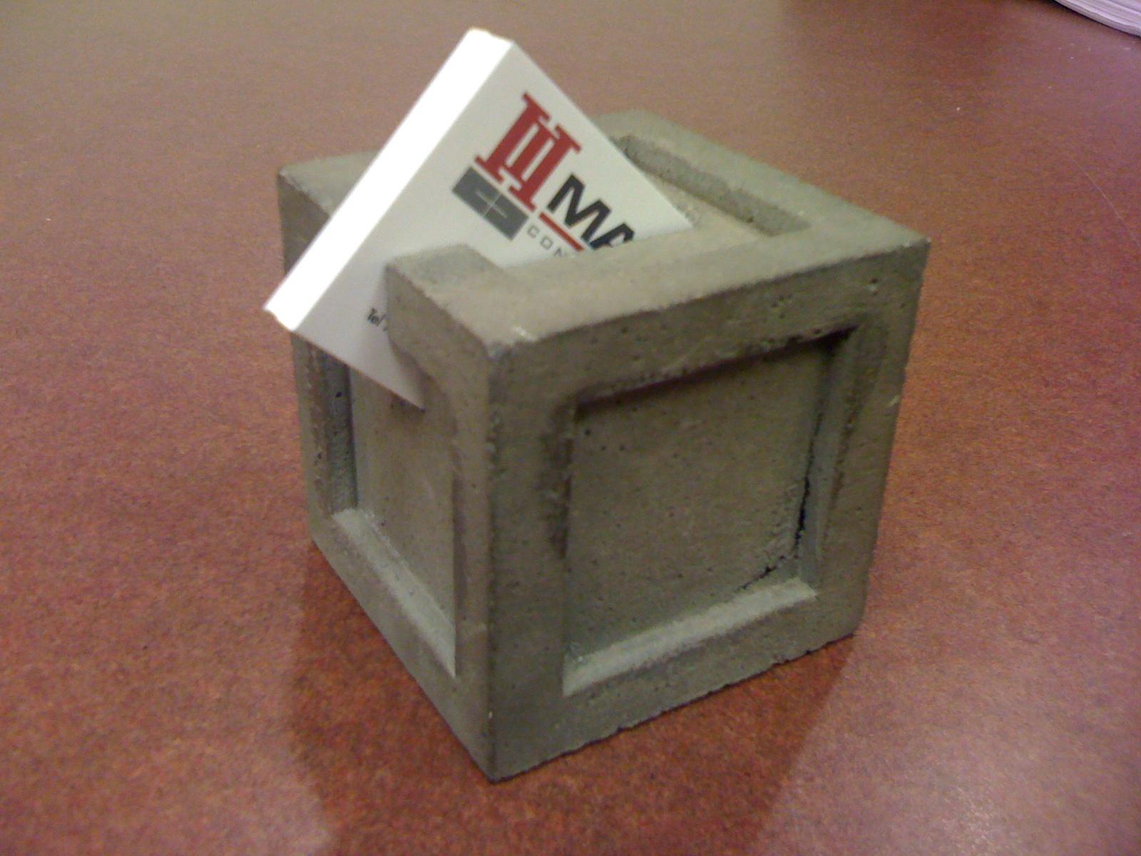 My Creativity Engine: Concrete Business Card Holder