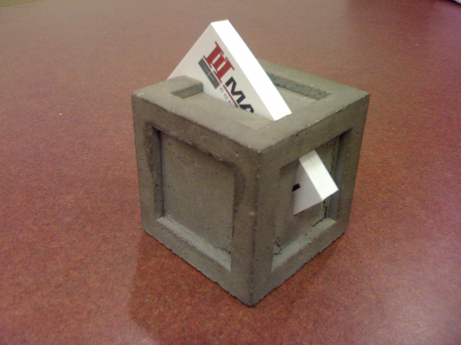 My Creativity Engine: Concrete Business Card Holder