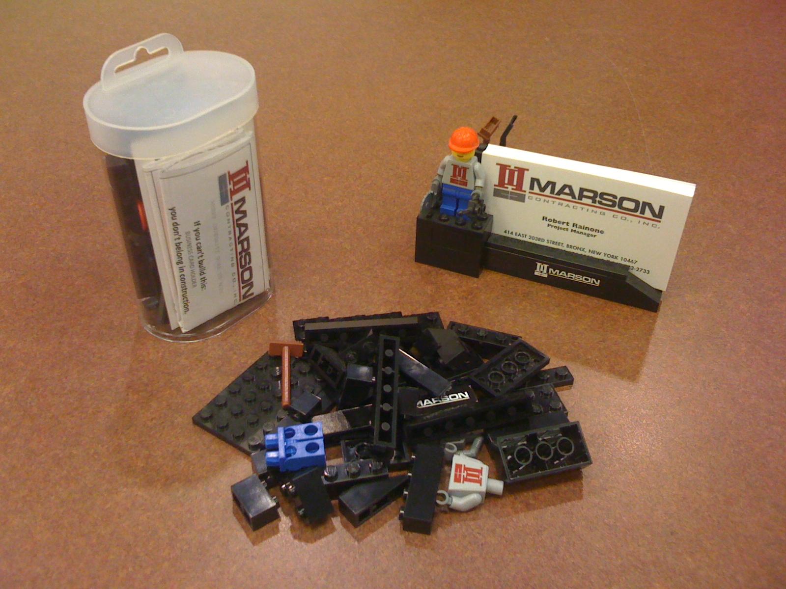 My Creativity Engine: Lego Business Card Holder