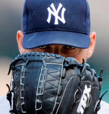 andy pettitte eyes glove mitt