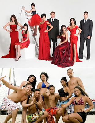 funny kardashians, snooki and those other jersey shore guys in a big, naked pile