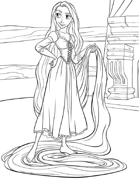 Everything about disney tangled rapunzel disney tangled for Disney tangled coloring pages