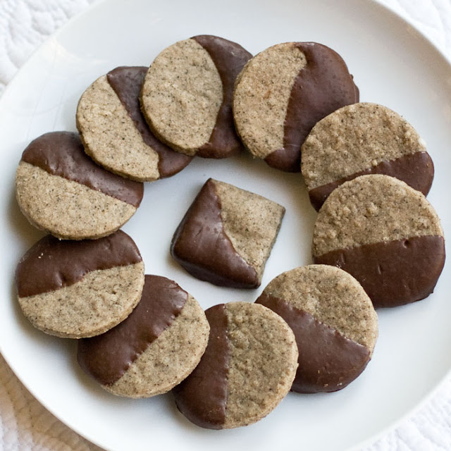 Sweet Savory Planet: Espresso Shortbread Cookies