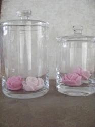 Ik ben dol op glas en glazen voorraad potten