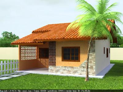 Andesigner3d modelo de casa popular i for Casa popular