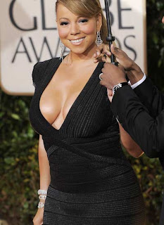 Gowns at Golden Globe Awards - Mariah Carey
