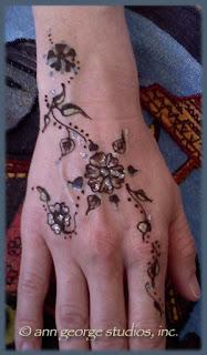 gilded henna tattoo