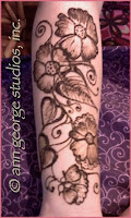 henna tattoo design for the arm